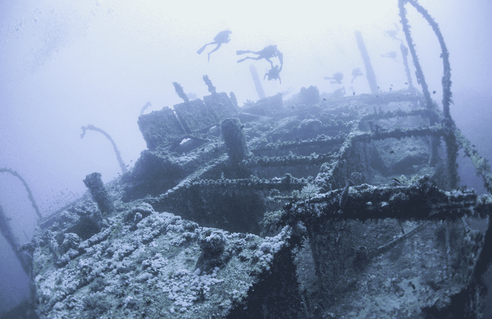 Discovering Underwater Shipwrecks
