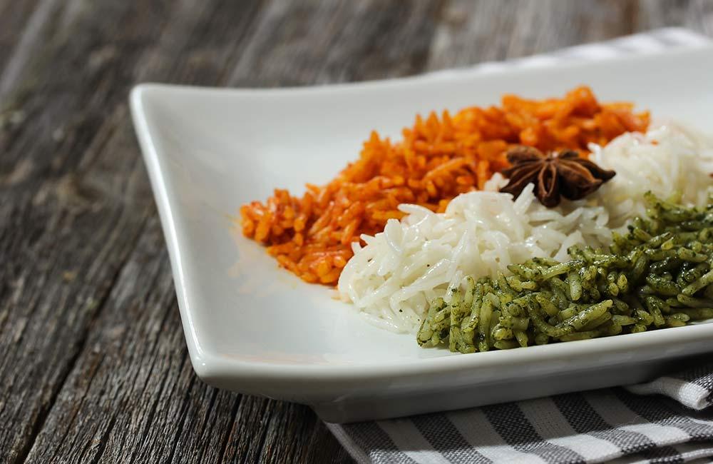 Prepare a Tri-colour Dish