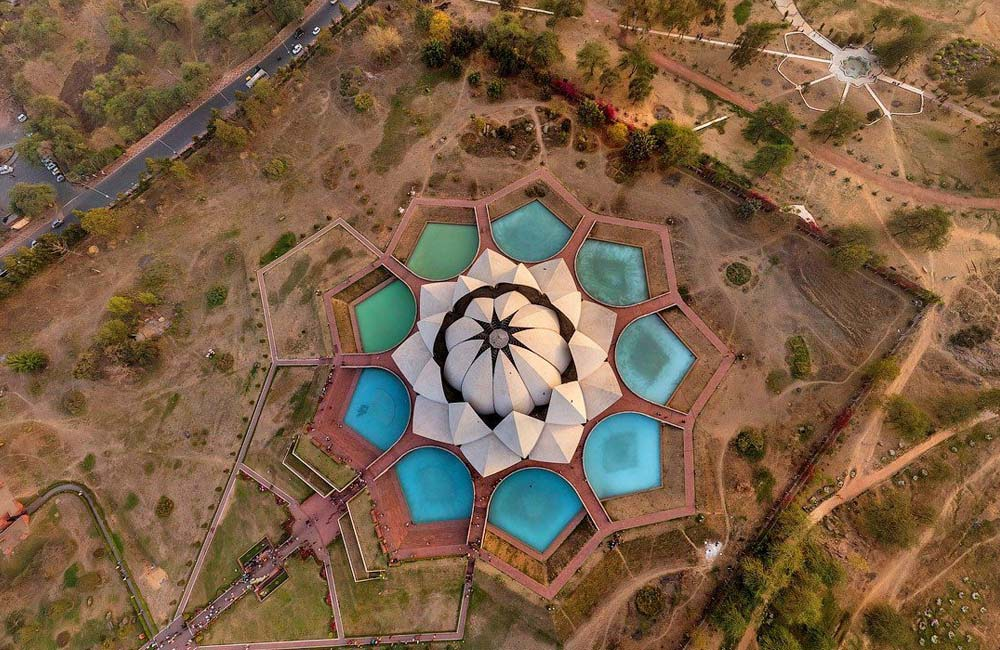 Lotus Temple, Kalkaji  |  Among the Most Famous Temples in Delhi