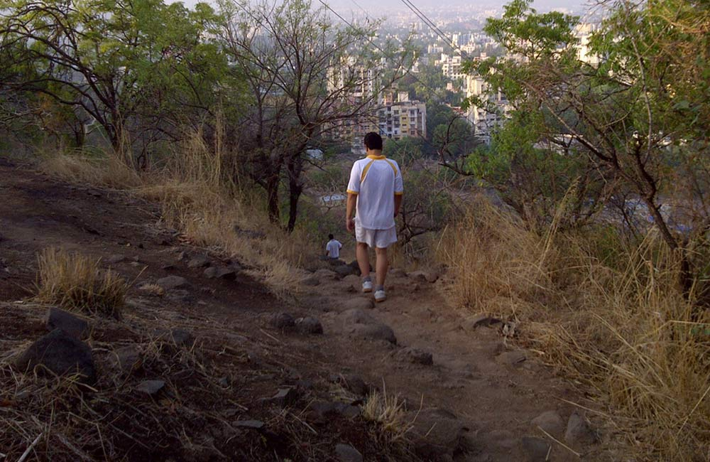 Take a panoramic shot of Pune from Vetal Hill