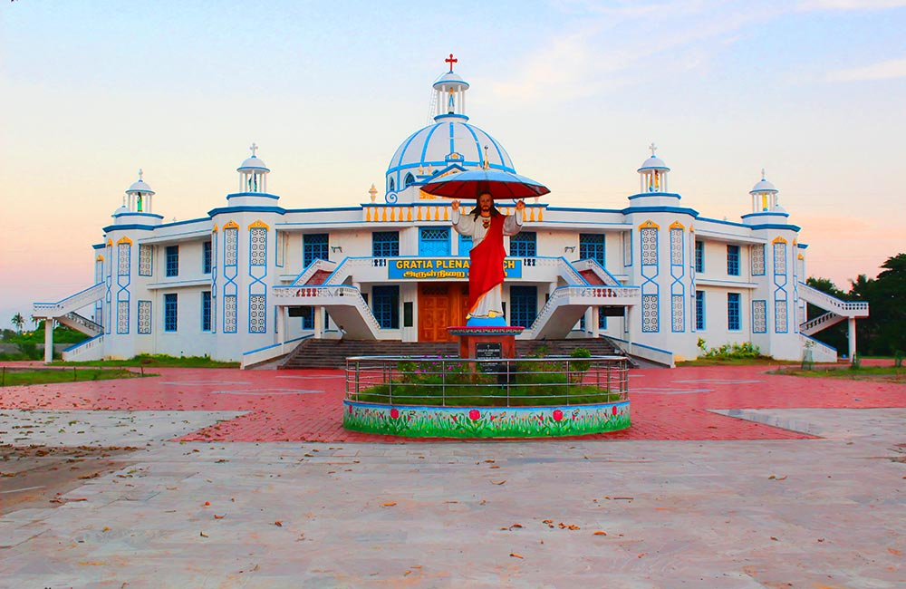 Our Lady of Lourdes Shrine | most famous churches in pondicherry