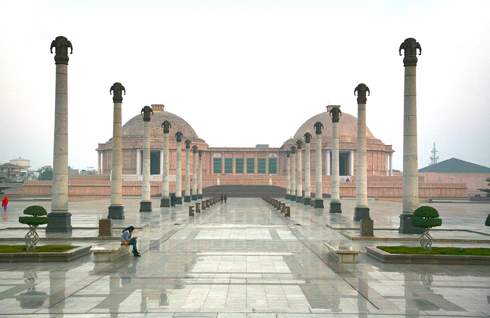 Explore larger than life stupas and statues at Ambedkar Park