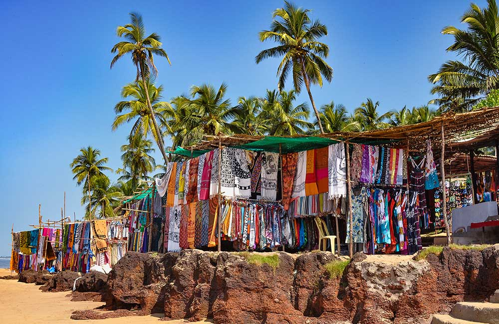 Anjuna Beach Flea Market | #13 of 30 Places to Visit in Goa for Youngsters
