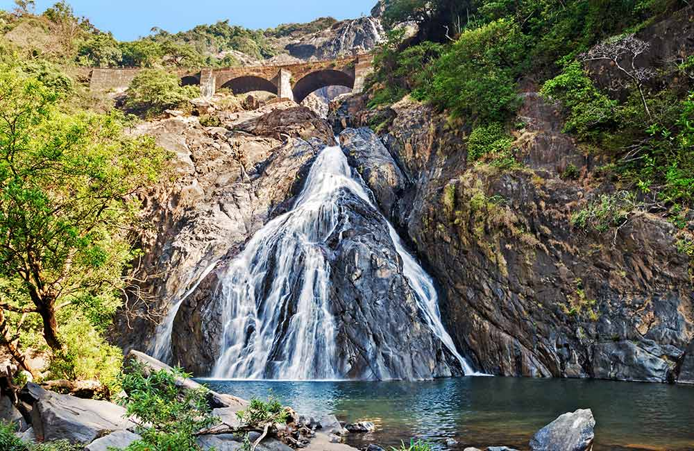 Dudhsagar Waterfalls | #28 of 30 Places to Visit in Goa for Youngsters