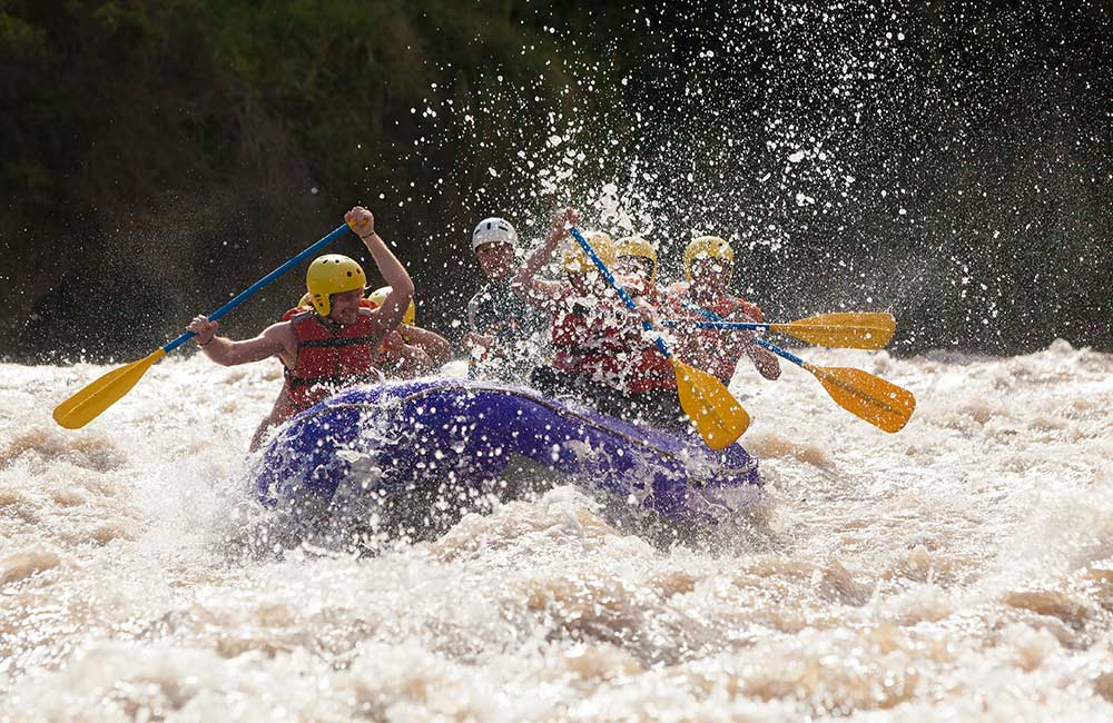 Rafting in Barapole, Coorg