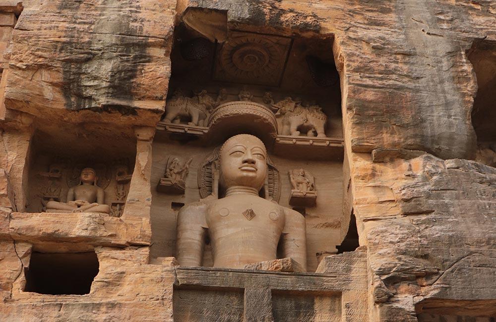 Gopachal Parvat rock-cut sculptures