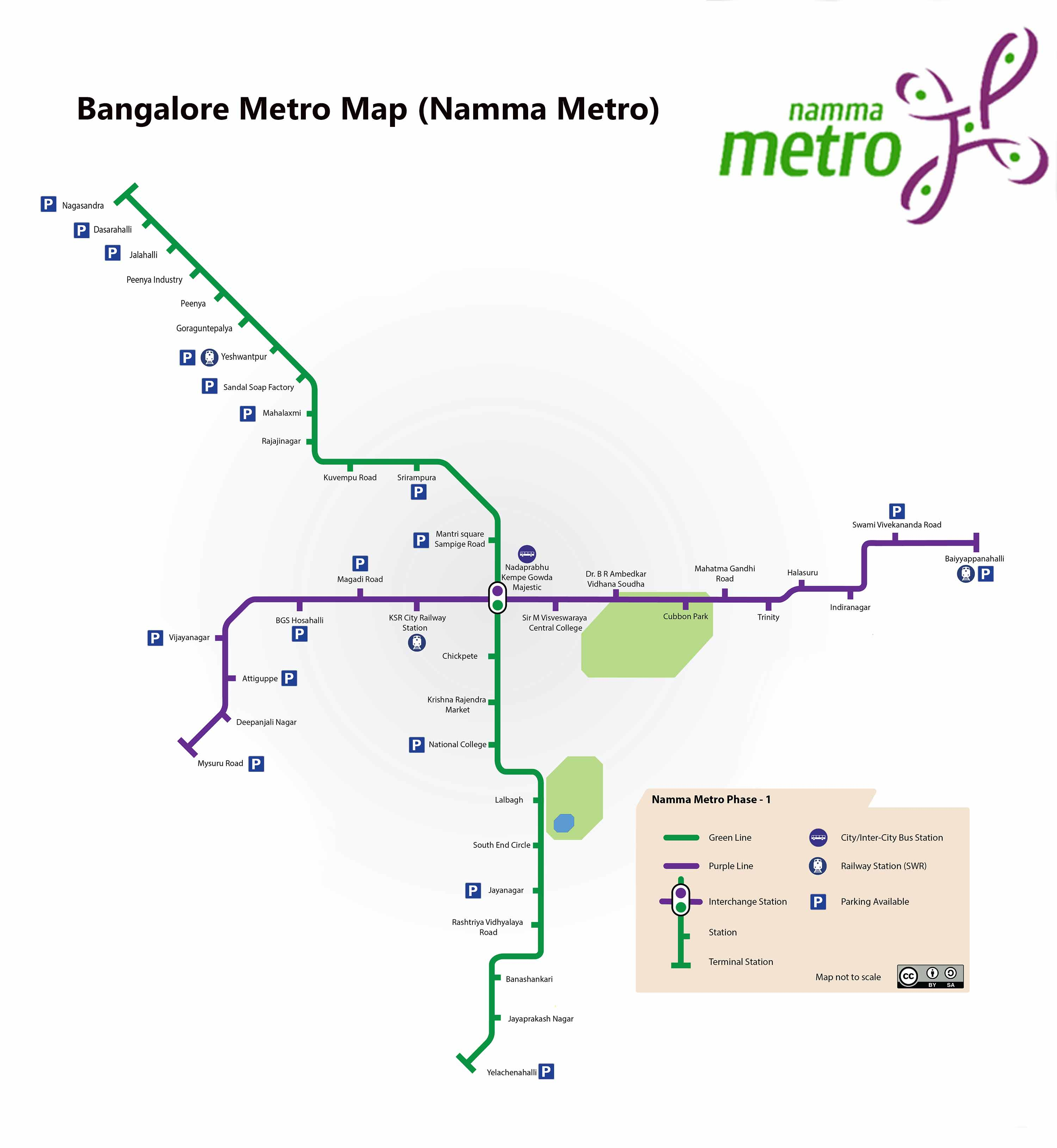 Bangalore Metro Green Line Route Map Timing Nearby Attractions