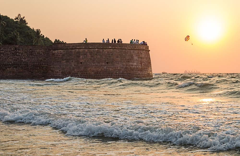Sunset at Fort Aguada | 3-Day Trip to Goa